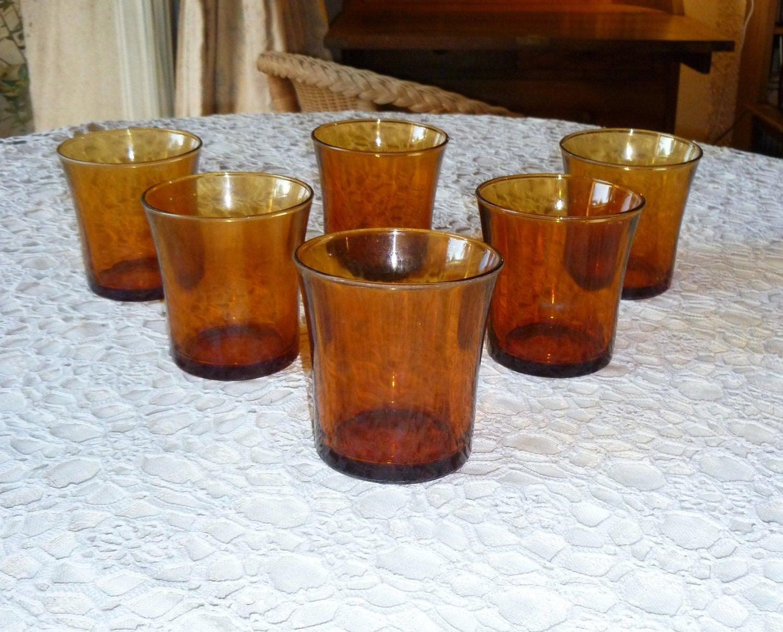 Duralex Amber Glasses