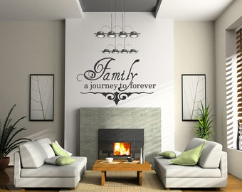 High Quality Wall Stickers Quote Decal Family a journey to forever  Vinyl Removable Letters (C27)