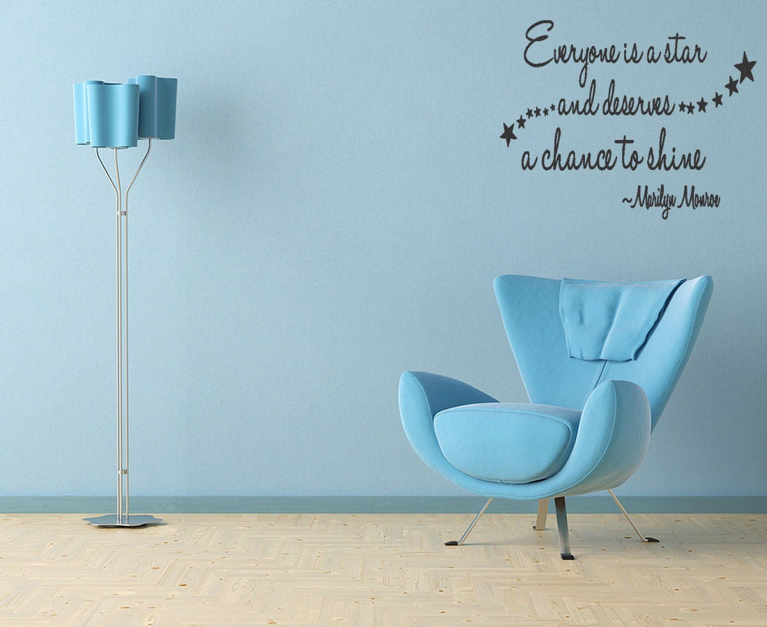 Everyone Is A Star Vinyl Wall Quote Decal Home by superdecals1