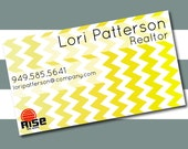 Ombre Chevron Business Card
