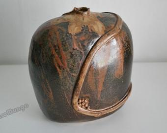 Stunning designed  Studio ceramic vase - signed