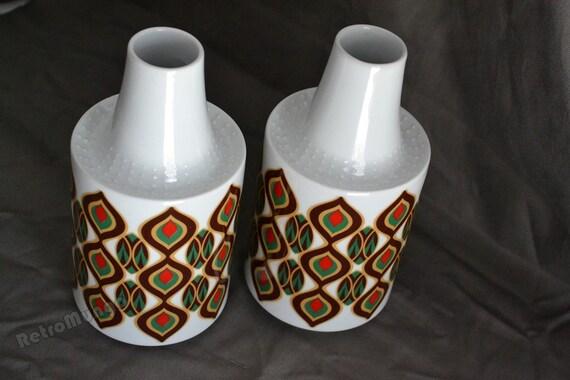 Set Of 2 Vases Bavaria Schumann Arzberg Germany 1970 S