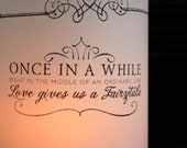 Wedding Table Decor, Fairytale Decor, Wedding Luminaries, Black and White Wedding, Wedding Centerpieces- set of 15 Luminaries