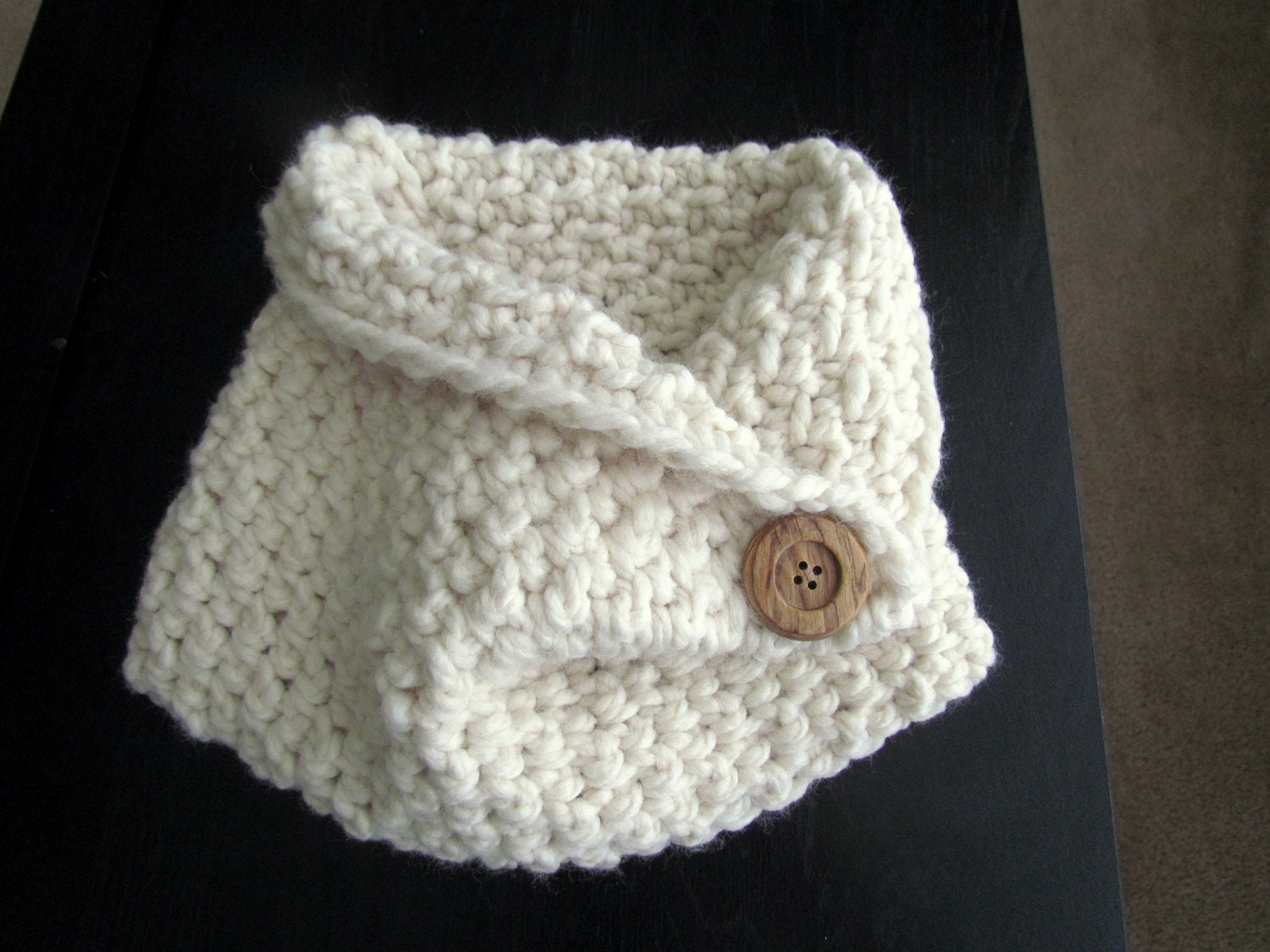 Crochet Cowl Neck Scarf Toddler Size
