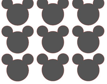 Mickey Mouse Chalkboard Vinyl Decals / Labels - Set of 50