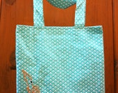 Embroidered Shoulder Bag with Under the Sea Squid