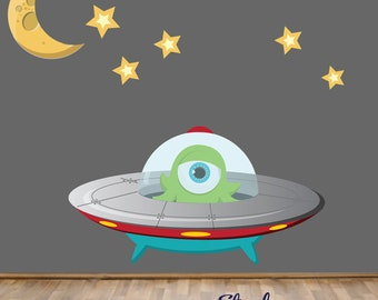 Alien Fabric Wall Decal
