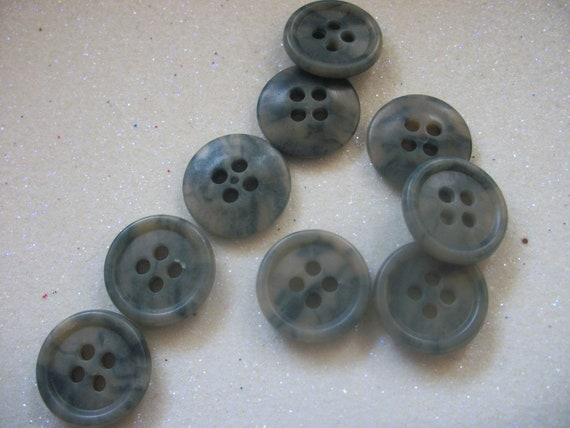 blue grey vintage sewing buttons 24 by talisonstreasures