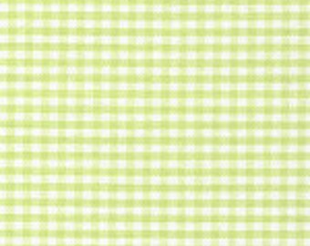 Fabric by the Yard 16th inch Gingham, 60 inch wide, 100% Cotton, Light Lime, Fabric Finders Inc