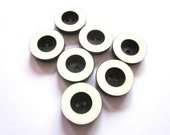7 Vintage 1960s Navy and White Monochrome Buttons