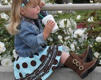 Girls skirt pattern, school dress circle skirt, pdf sewing pattern, easy twirl skirt RUCHED RUFFLE SKIRT