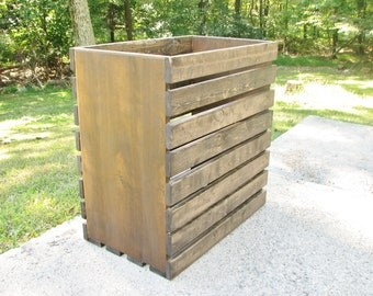 Laundry Basket, Rustic, Crate, Finished or Unfinished