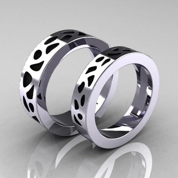 Exclusive Platinum: Designer Exclusive Modern 950 Platinum Snow Leopard Wedding
