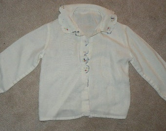 Long Sleeve Baby Blouse with Embroidery
