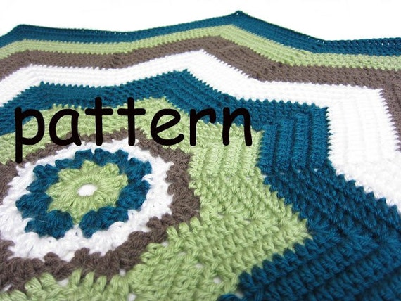 star crochet pattern 8 point star afghan ocean by RockinLola