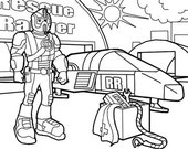 Printable Colouring Page for  Children Digital Colouring Book Rescue Ranger Drawing Emailed as Jpeg