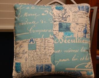 Patchwork Decorative Throw Pillow Cover  16 X 16, Blue Premier Prints Corded Accent  Pillow Cover