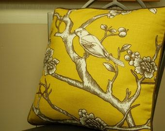 Yellow Dwell Studio Print Throw Pillow Cover Set 2 18 X 18 corded pillows, decorative sofa pillows