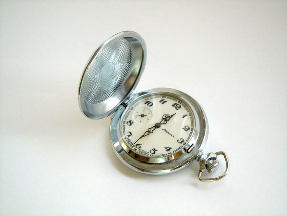 Vintage Pocket Watch MOLNIJA From Soviet Times