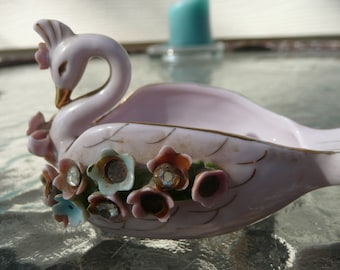 Vintage Small Swan Ashtray