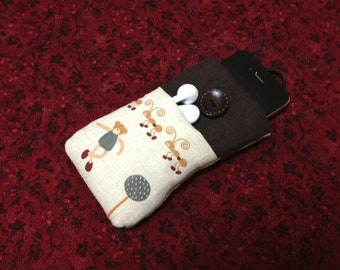 Cute Cartoon Bear Rabbit handmade iPhone case, iPhone sleeve,iPod touch cover,pouch, cellphone case, Kindle case, Samsung tab cover
