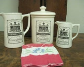 Crabtreee & Evelyn Collectible Cosmestibles Kitchen Stoneware Set  Rare Made in England by Sadler