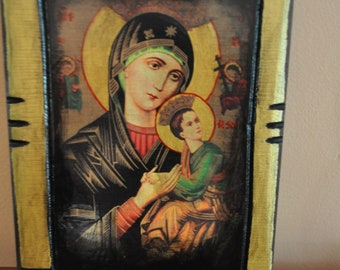 Virgin Mary, Icon.Unique Religious Art and Gifts for Your Special Ones