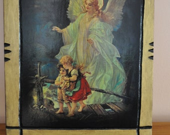 Guardian Angel, Icon.Unique Religious Art and Gifts for Your Special Ones