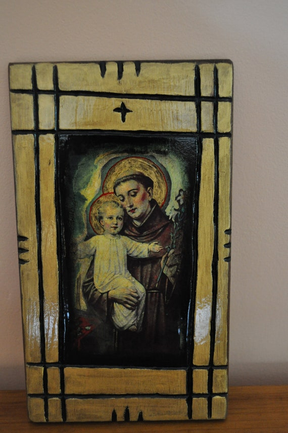 Saint Anthony, Icon.Unique Religious Art and Gifts for Your Special Ones