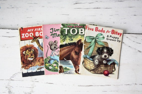 Vintage Children's Picture Books - Set of 4