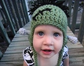 Crochet Frankenstein Hat -- Made to order -- Available in sizes newborn-Adult