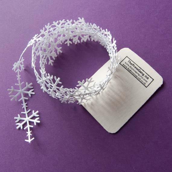 Snowflake Christmas Cut Out Ribbon - 3 metres (3.28 yards)