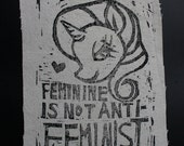 Feminine Is Not Anti-Feminist Patch featuring Rarity- My Little Pony