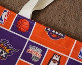 Handmade Phoenix Suns Basketball Sports Fan Tote Bag with Free Shipping