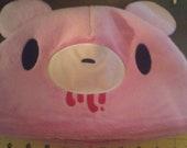 Pink Gloomy Bear Soft Fleece Hat