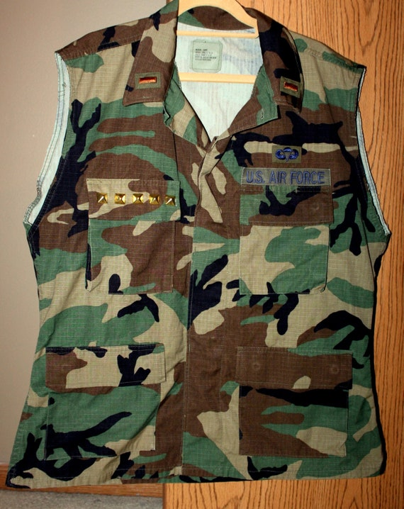 Army Vest With Gold Studs