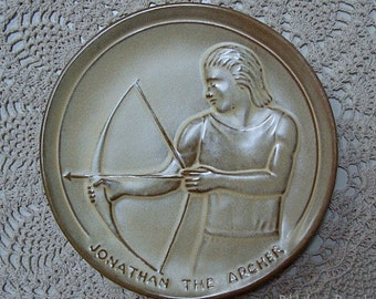 1975 Frankoma Plate Jonathan The Archer