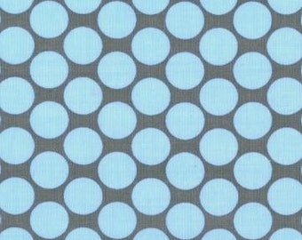 SALE 1/2 Yard Amy Butler Full Moon Polka Dot in Slate