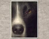 Best Friend.  Portrait of a dog, painting, fine art photography, Detroit Institute of Art.  Home Decor.