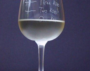 Mother's Helper by Caloric Cuvee: The kid counting wine glass - funny wine glass - portion control - measurement glass - baby shower gift