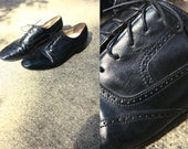 classy black leather oxford