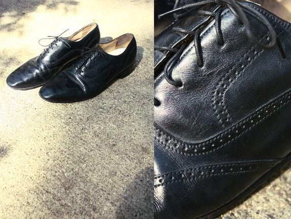 classy black leather oxford