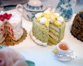 Dollhouse miniature cake- Lemon Poppyseed