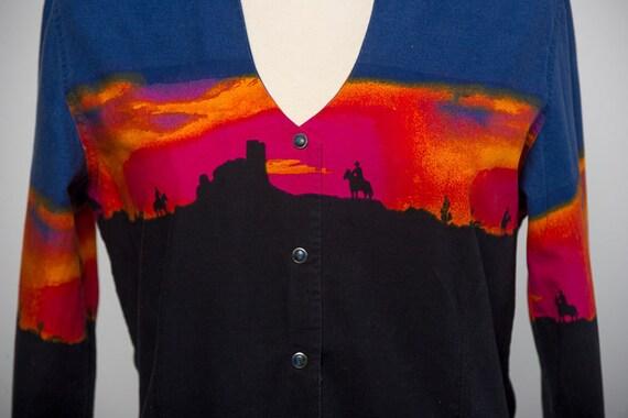 Ladies Vintage Western Shirt