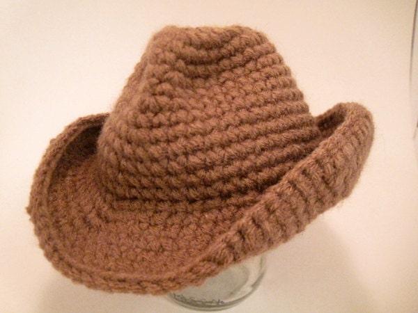Crochet Pattern Cowboy Hat : Crochet Pattern Cowboy/western hat for 16 doll