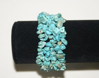 Turquoise Howlite Chip Stretch Bracelet