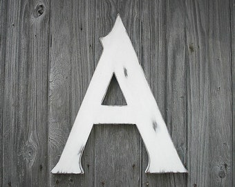 wooden letters rustic wedding letter a shabby chic wooden initial 18 inch photo prop white distressed wood kids wall nursery decor sign