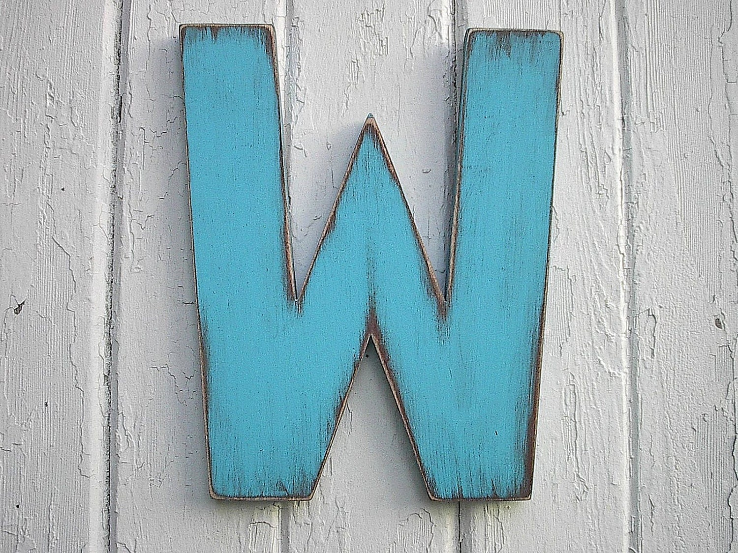 Wooden letters 12 inch w shabby chic wall art rustic decor - Wood letter wall decor ...