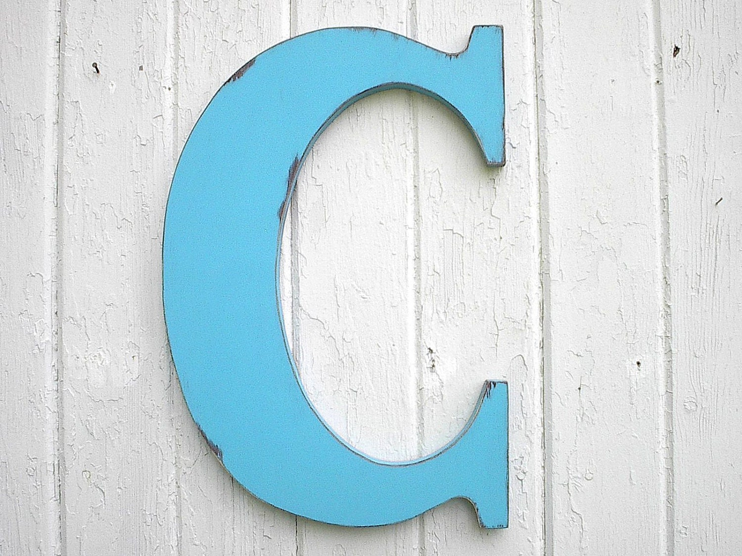 Wooden letters bimini blue letter c monogram initial kids wall - Wood letter wall decor ...