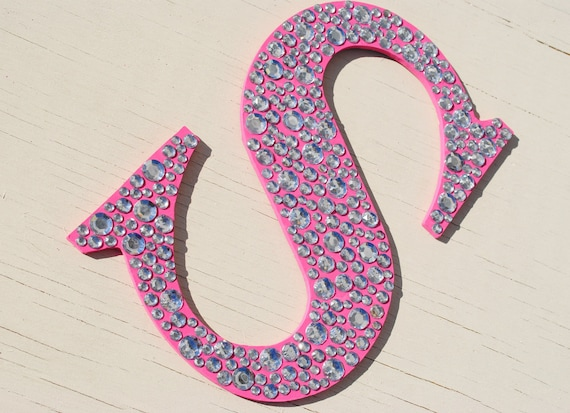 Sparkle Hot Pink Bling Wall Letters